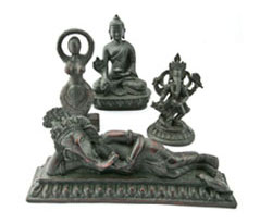 Buddhist, Hindu and Goddess Statues
