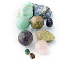 Canadian Spheres, Rough Rock and Cabochons