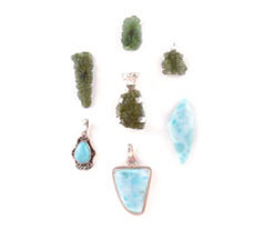 Moldavite and Larimar